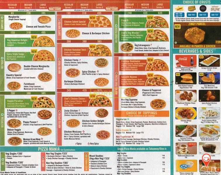 www.dominos.com Menu Rate List | How to Order Pizza Online