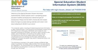 SESIS Login – NYC Department of Education Website